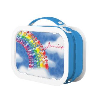 Rainbow of Hearts Lunch box