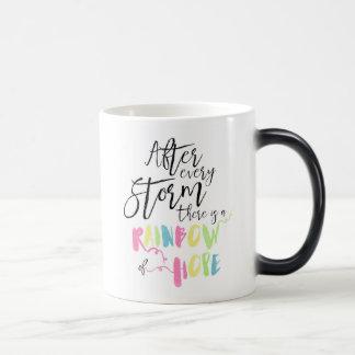 Rainbow Of Hope Colour Changing Mug, Rainbow Magic Mug