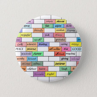 Rainbow of Inspirational Graffiti 6 Cm Round Badge
