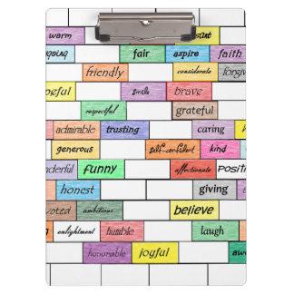 Rainbow of Inspirational Graffiti Clipboard