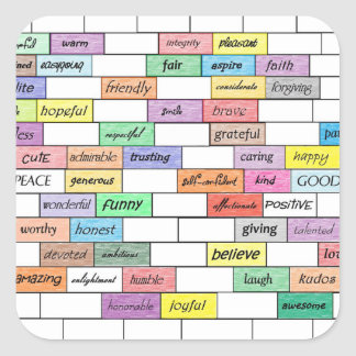 Rainbow of Inspirational Graffiti Square Sticker
