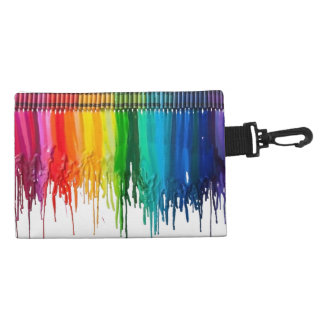 Rainbow of Melted Crayons Accessory Bag