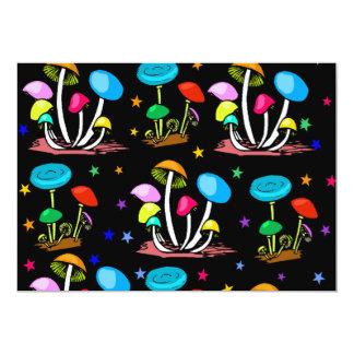 Rainbow Of Mushrooms 13 Cm X 18 Cm Invitation Card