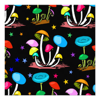 Rainbow Of Mushrooms Custom Announcements