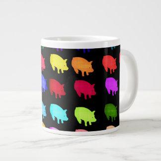 Rainbow Of Piggies Large Coffee Mug