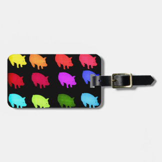 Rainbow Of Piggies Luggage Tag