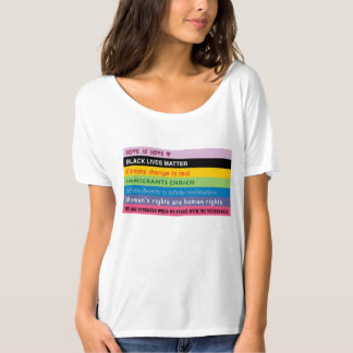 Rainbow of progressive slogans T-Shirt