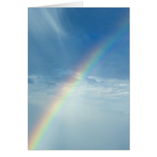 Rainbow of promises greeting card