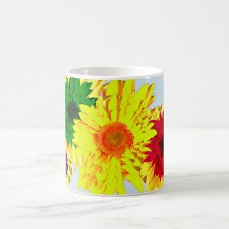 Rainbow of Sunflower Colors on a Coffee Mug
