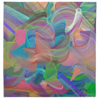 Rainbow of Swirls Napkin