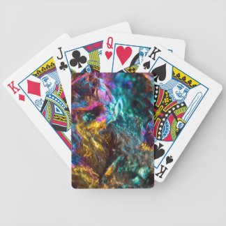 Rainbow Oil Slick Crystal Rock Bicycle Playing Cards