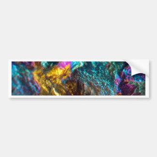 Rainbow Oil Slick Crystal Rock Bumper Sticker