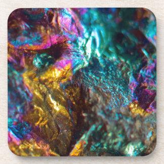 Rainbow Oil Slick Crystal Rock Coaster