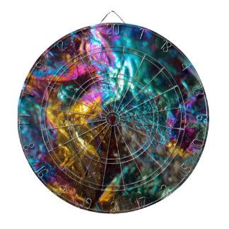 Rainbow Oil Slick Crystal Rock Dartboard