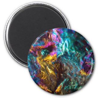 Rainbow Oil Slick Crystal Rock Magnet