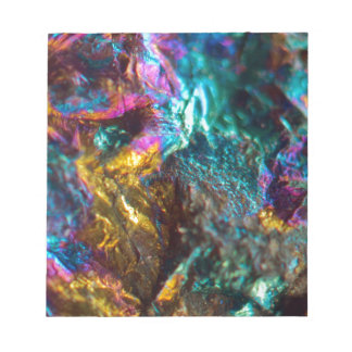 Rainbow Oil Slick Crystal Rock Notepad