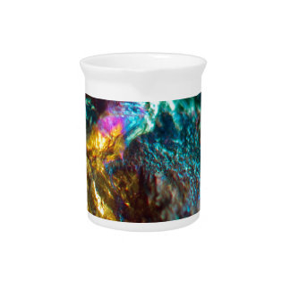 Rainbow Oil Slick Crystal Rock Pitcher