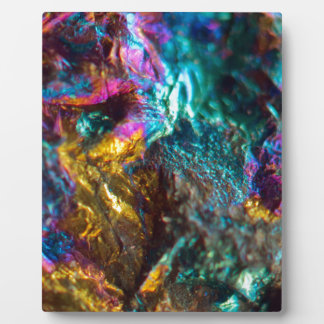 Rainbow Oil Slick Crystal Rock Plaque