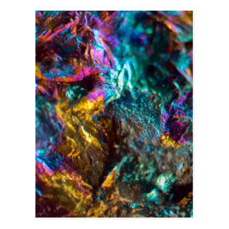 Rainbow Oil Slick Crystal Rock Postcard