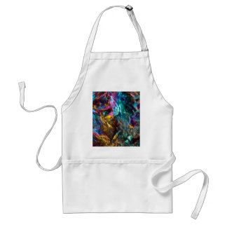 Rainbow Oil Slick Crystal Rock Standard Apron