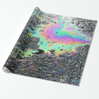 Rainbow Oil Slick Wrapping Paper