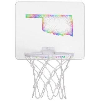 Rainbow Oklahoma map Mini Basketball Hoop