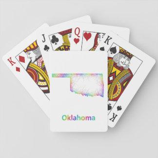 Rainbow Oklahoma map Poker Deck