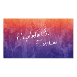 Rainbow Ombre Watercolor Business Card Templates