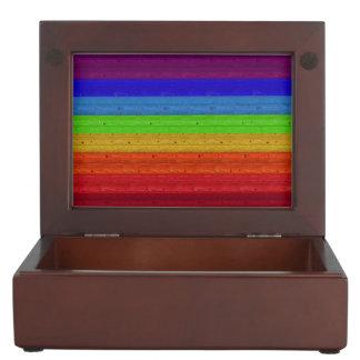 Rainbow on Wood Keepsake Box
