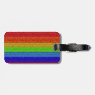 Rainbow on Wood Luggage Tag
