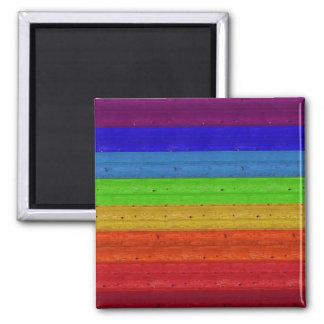 Rainbow on Wood Magnet