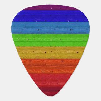 Rainbow on Wood Plectrum