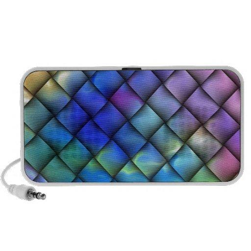 Rainbow optical illusion mp3 speakers