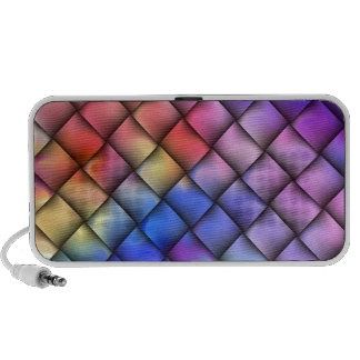 Rainbow optical illusion iPhone speakers