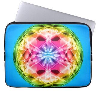 Rainbow Orb Mandala Computer Sleeve