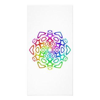 Rainbow ornament customized photo card