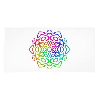 Rainbow ornament custom photo card