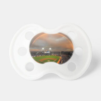 Rainbow over a Baseball Stadium Pacifier