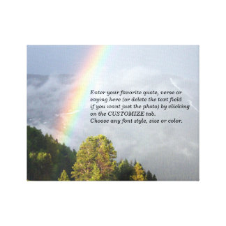 Rainbow over Colorado Mountaintop w/ Your Text Canvas Print