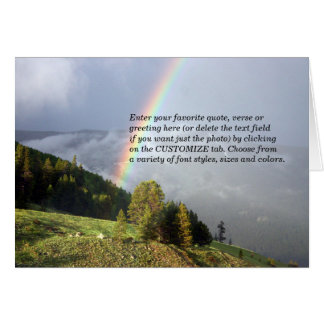 Rainbow over Colorado Mountaintop w/ Your Text Card