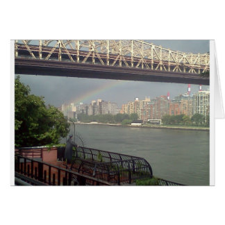Rainbow over East River Card