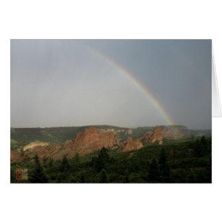 Rainbow over Hogbacks Card