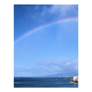 Rainbow over Honolulu, Hawaii Personalized Flyer