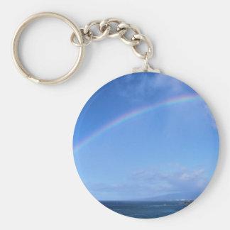 Rainbow over Honolulu, Hawaii Keychains