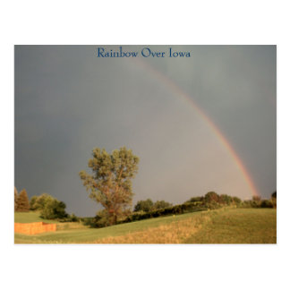Rainbow Over Iowa Postcard