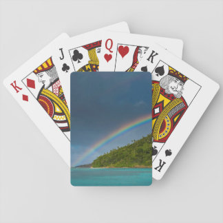 Rainbow over island, American Samoa Playing Cards