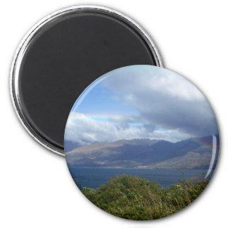 Rainbow over Lake Wanaka, New Zealand Magnet