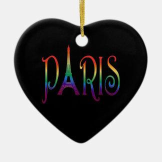 rainbow over Paris Ornaments