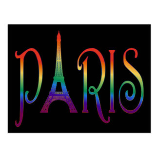 rainbow over Paris Postcard