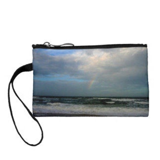 Rainbow over rough waters coin purse